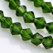 Margele biconice 4x4mm green