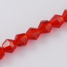 Margele biconice 2x3mm red