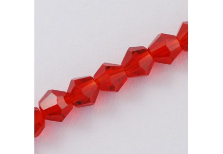 Margele biconice 6x6mm red
