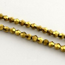 Margele biconice 3x3.5mm Golden Plated