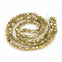 Margele biconice 4x4mm golden plated