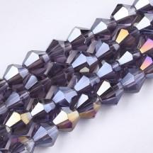 Margele biconice 6x5.5mm indigo ab