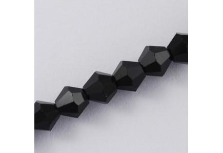 Margele biconice 6x6mm black