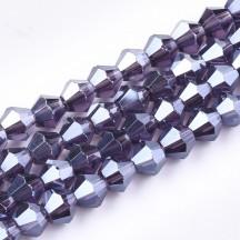 Margele biconice 6x5.5mm indigo pearl
