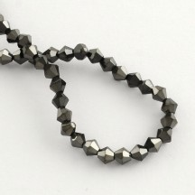 Margele biconice 4x4.5mm black plated