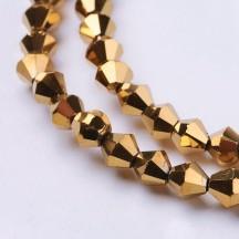 Margele biconice 4x4mm goldenrod