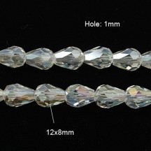Rondele 12x8 lacrima crystal ab