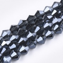 Margele biconice 6x5.5mm prussian blue