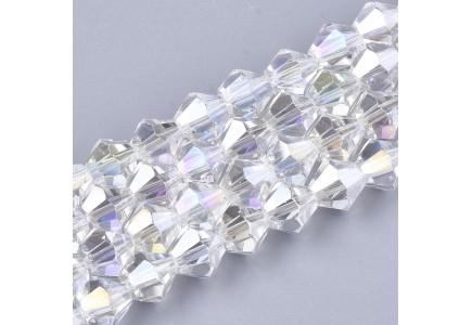 Margele biconice 6x6mm crystal ab 2