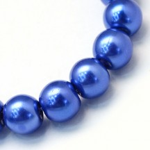 Perle sticla 10mm royal blue