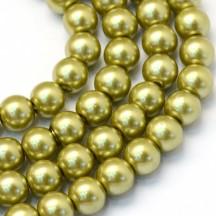 Perle sticla 3mm olive