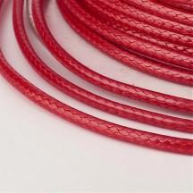Snur satinat 0.5mm red la metru