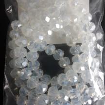 Rondele sticla 6x5mm light blue pearl luster