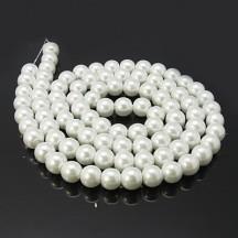 Set perle sticla 4/6/8/10/12mm white