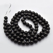 Set perle sticla 4/6/8/10/12mm black