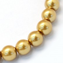 Perle sticla 8mm goldenrod