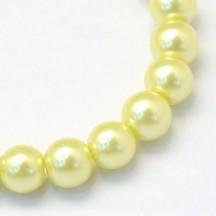 Perle sticla 4mm yellow