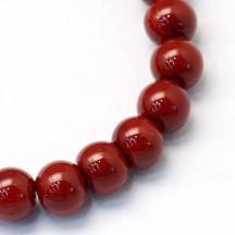 Perle sticla 8mm dk red