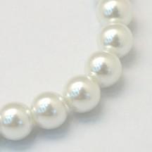 Perle sticla 6mm white