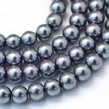 Perle sticla 6mm silver