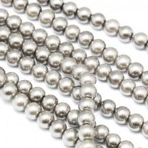 Perle sticla 8mm Taupe
