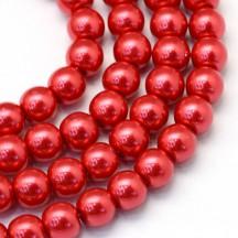 Perle sticla 6mm crimson