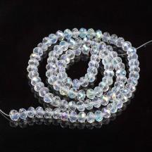 Rondele sticla 4x3mm crystal ab