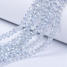 Rondele sticla 3x2mm azure pearl luster