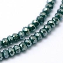 Rondele sticla 3x2mm green ab
