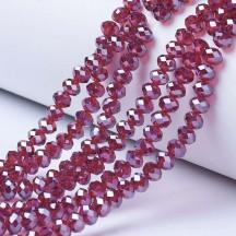 Rondele sticla 3x2mm medium violet red pearl luster