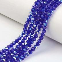 Rondele sticla 3x2mm blue ab