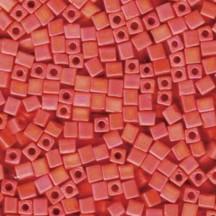 Miyuki Cube 1.8mm 0406FR Opaque Orange Matted AB