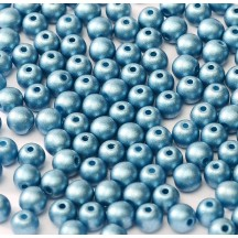 Margele Rotunde 4mm 02010/29434 Albaster Metallic Sea Blue