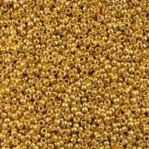 Margele de nisip Miyuki 11/0 5gr 24KT Gold Plated 0191
