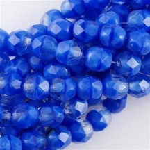 Margele Cehesti Fire-Polish 3 mm 36020 Sapphire/Crystal