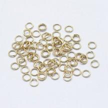 Zale Deschise 4mm Placate Cu Aur