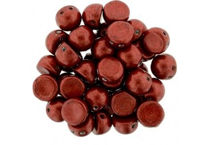 CzechMates Caboshon 77047CR Color Trends Saturated Metallic Aurora Red