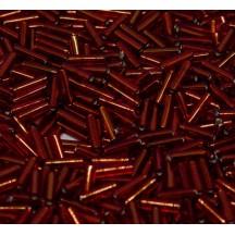 Miyuki Bugle 6mm 0011 Silver Lined Ruby