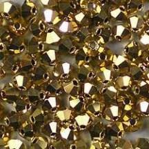 Preciosa 3 mm Crystal Aurum Full Coat