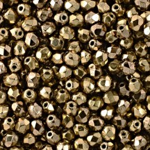 Margele Cehesti Fire-Polish 8mm 72105JT Coated Metallic Bronze