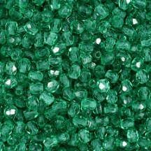 Margele Cehesti Fire-Polish 3mm 50730 Emerald