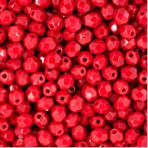Margele Cehesti Fire-Polish 3mm 93190 Opaque Red