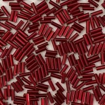 Preciosa Bugle 6mm 12001/97120 Silver lined red