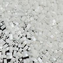 Miyuki Half Tila 0420 White Pearl