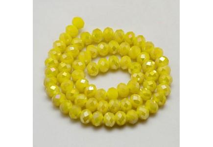 Rondele sticla 8x6mm Yellow Luster