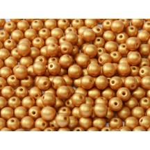 Margele Rotunde 2mm 02010/29421 Alabaster Metallic Gold