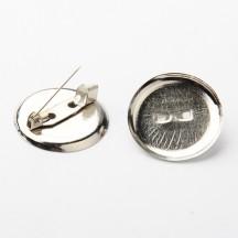 Baza brosa 24mm argintie