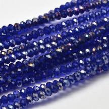 Rondele sticla electroplacate 3x2mm Dark Blue
