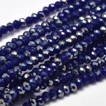 Rondele sticla electroplacate 4x3mm Dark Blue