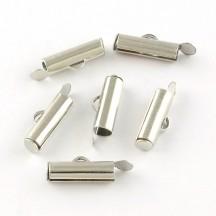 Terminatie argintie Tub 5.5x25x4mm